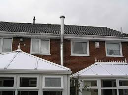 remember that once the flue has gone up through the roof depending on height it may need to be secured to prevent it being n over in strong winds