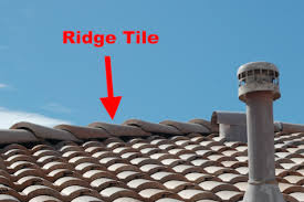 ridge or hip tiles the tiles on the peak of your roof