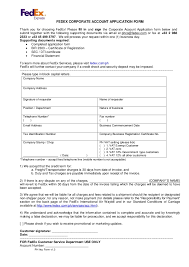 Business Account Application Corporate Account Application Form