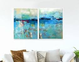 paintings for office walls. Unique Walls Large Wall Art Blue Abstract Set Of 2 Art Prints ArtworkLarge  PaintingsDining Room Office With Paintings For Walls