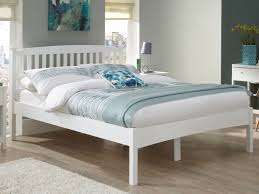 eleanor low foot end white bed frame king size