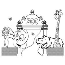 zoo cage coloring page. Modren Coloring TheHappyAnimals On Zoo Cage Coloring Page E