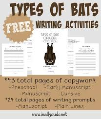 Free Types Of Bats Writing Activities - The Multi Taskin' Mom
