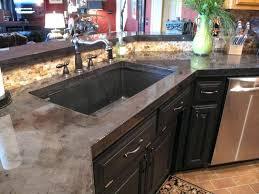 pour concrete countertops kitchen concrete charcoal stain finish tutorial at pour in place white concrete