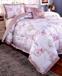 4 pc comforter set with shams la paris eiffel tower bedding king size pink 1 of 4only 3 available see more