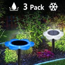 Led Solar Globe Flower Garden Lights Outdoor Waterproof