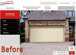 garage door before renovation