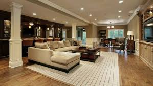 basement furniture ideas. Cool Basement Ideas For Contemporary Living Room Design With  Furniture And Wooden Floor Plus Basement Furniture Ideas