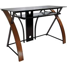 bell o computer desk with curved wood sides