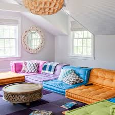 colorful living room ideas. Living Room Colour Schemes Modern With Multi Coloured Modular Sofa Colorful Ideas