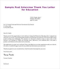 Free Sample Thank You Letter Beauteous Awesome Collection Of Interview Thank You Note Sample Teacher