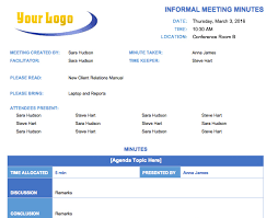 Meeting Templates Word Free Meeting Minutes Template for Microsoft Word 28