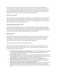 Autobiography Outline Example How Write A Good 3 Entire Including