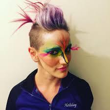 colorful bird makeup design