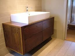 010 dark oak wall mounted sink unit