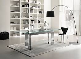 contemporary glass office. Contemporary Table / Glass Chromed Metal Rectangular Office R