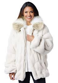 ivory mink couture faux fur er jacket 1
