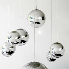 modern tom dixon mirror glass ball pendant lights restaurant chrome globle pendant lamps hanging light fixture