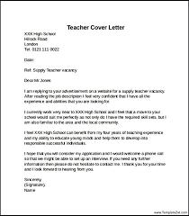 Example Teaching Cover Letter On How To Write For Teacher Resume In