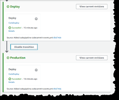 Working With Stage Transitions In Codepipeline Codepipeline