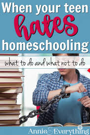 Things To Do After High School When Your Teen Hates Homeschooling High School Annie