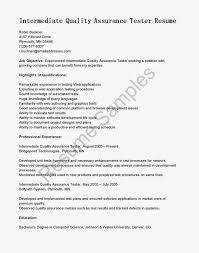 quality assurance resume objective cipanewsletter qc resume