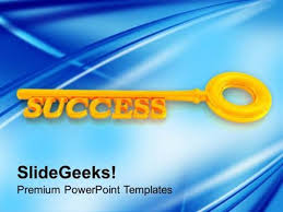 Blue And Gold Powerpoint Template Finance Golden Key To Success Finance Ppt Template Powerpoint Template