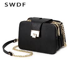 2019 Spring <b>New Fashion Women Shoulder</b> Bag Chain Strap Flap ...