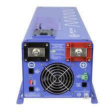 amazon com aims power picoglf60w24v240vs 24 volt pure sine inverter 6000 watt low frequency inverter 110 220vac split phase 18000 watt surge battery priority selector terminal block gfci electronics