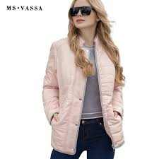 whole ms vassa women jacket 2017 new autumn spring coats stand up collar plus size 5xl 6xl zipper at front with press on italian leather jackets