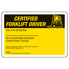 Free Forklift Certificate Template Wallet Training Certificates Templates Free Jaguar Clubs