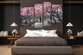 4 piece photo canvas bedroom huge canvas print grey art scenery canvas print on wall art decor bedroom with 4 piece wall decor scenery wall art grey canvas art prints tree