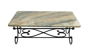 glass coffee table wrought iron legs