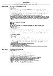 Landscaping Resume Examples Laborer Resume Sample Landscape Samples V Sevte 78