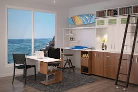 custom home office design. gorgeous modern office with view of the ocean custom home design g