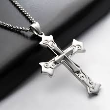 silver cross cremation memorial jewelry keepsake urn mens