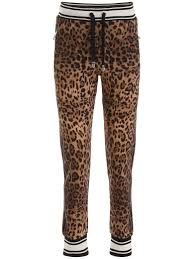 Best Price On The Market At Italist Dolce Gabbana Dolce Gabbana Leopard Printed Joggers