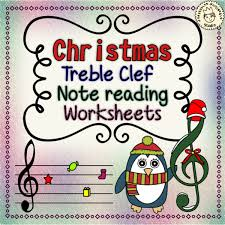 treblecleff christmas treble clef note reading worksheets anastasiya