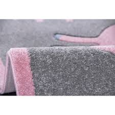 Kids rug Happy Rugs UNICORN silver graypink 120x180cm 11900