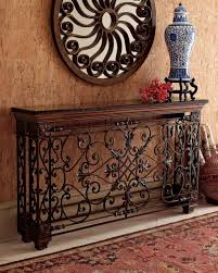 wrought iron and wood furniture. Wrought Iron Living Room Furniture For Console Table Using Coffee Brown Granite Countertop And Wooden Bun Wood L