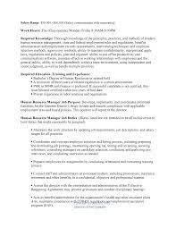 Personnel Management Job Description Job Description For Job Posting Notes Hr Manager 467