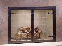awesome glass fireplace doors bronze 23