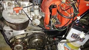 bsa b40 1961 6volts to 12volt conversion help britbike forum is rotor to far out of stator