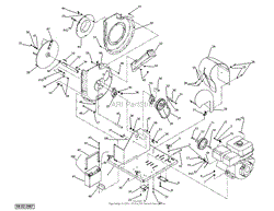 dr power commercial llv parts diagram for separator hose and blower chipper assy robin engine