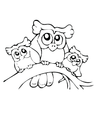 Owl Coloring Pages Free Mistersofpuertoricoinfo