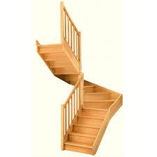Escalier Soft Double Quart Tournant Interm Diaire Gauche H274 Escalier Bois Quart Tournant Haut Et Bas