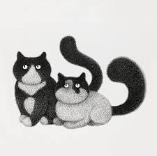 Playful Cat Illustrations Art By Kamwei Fong Artist Run Website