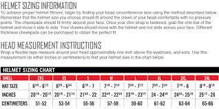 Icon Helmet Size Chart