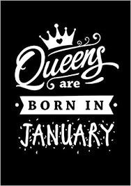 queens are born in january journal gift for women diary beautifully lined pages notebook keepsake memory book birthday present for her firefly