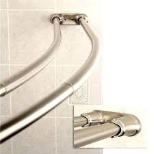 tension curved shower rod curved tension shower rod adjule double curved shower curtain rod satin nickel